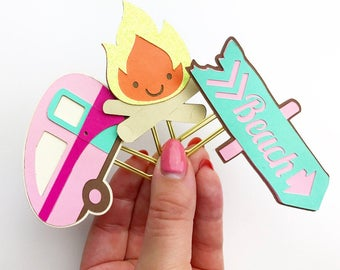 CAMPING Planner clips/ Bookmarks