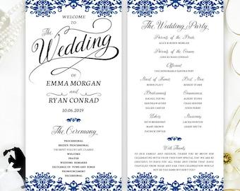 ceremony programs for wedding printed on white shimmer paper etsy