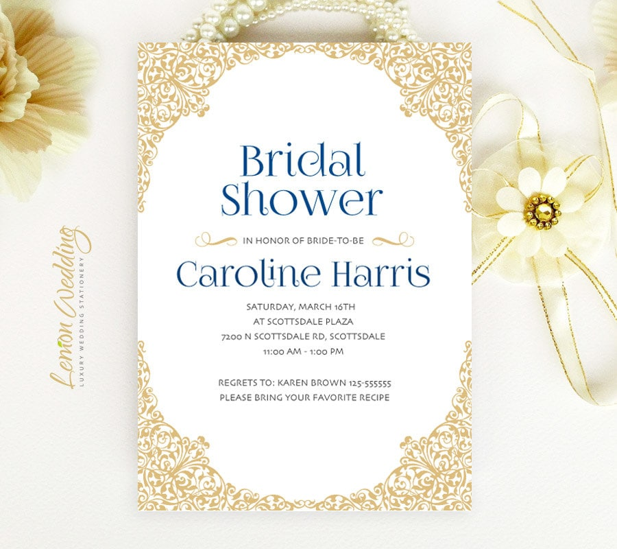 Elegant Bridal Shower Invitations Cheap Wedding Shower
