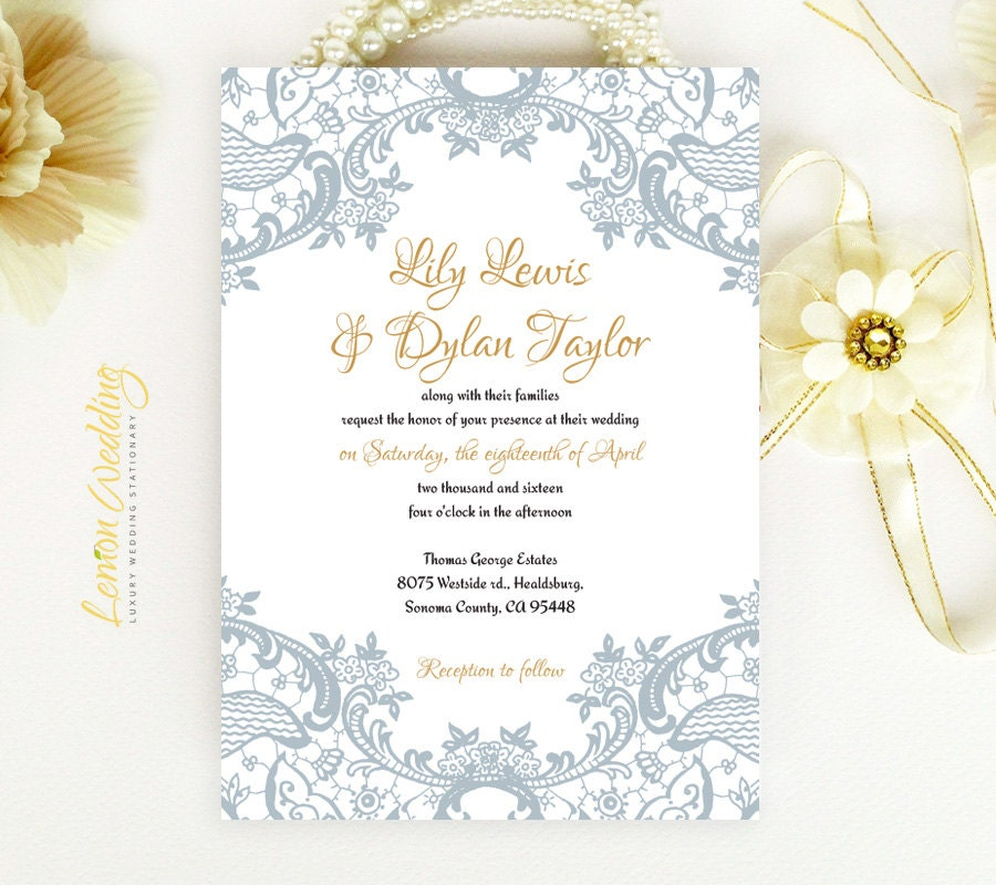 Elegant Inexpensive Wedding Invitations: Vintage Lace Wedding Invitations Cheap Elegant Wedding