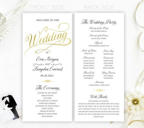 Cheap Wedding Programs: Cheap Wedding Programs Simple Elegant Programs For Wedding