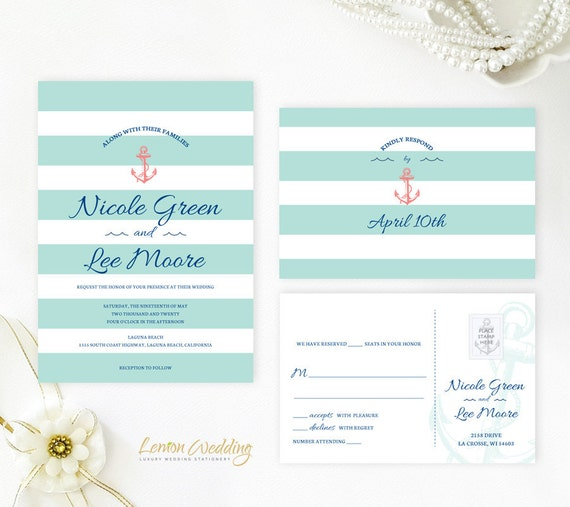 Cruise ship wedding invitations printed on shimmer cardstock | Etsy
