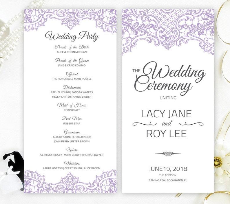 Cheap Wedding Programs.Printed Cheap Wedding Programs Elegant Programs For Wedding With Purple Lace Ornament Wedding Programs Cheap
