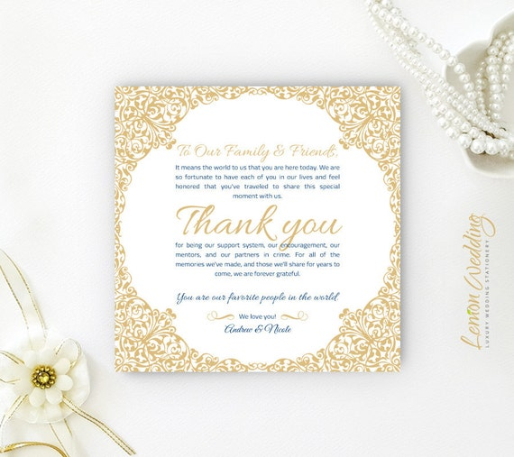 reception thank you cards printed seating thank you note etsy