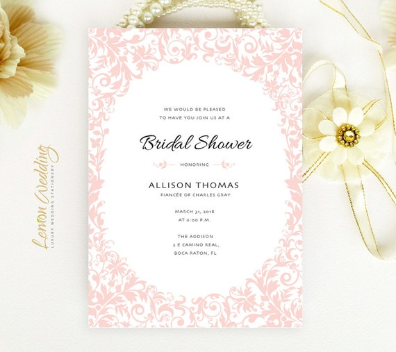 Inexpensive bridal shower invitations printed on pearlescent etsy image 0 filmwisefo