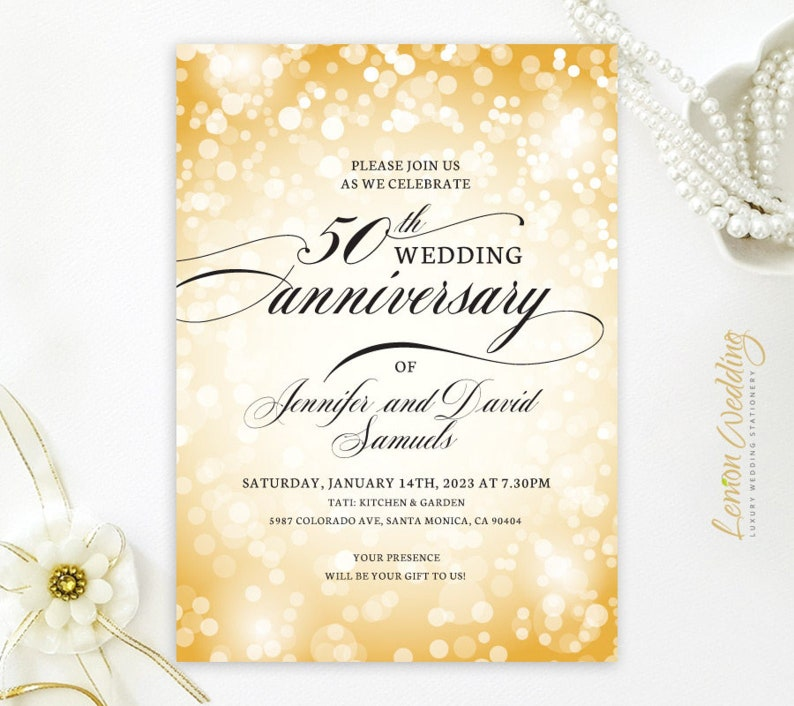 greenery invites  Any anniversary celebration 25th 30th Floral Burgundy and gold 50th wedding anniversary invitation envelopes