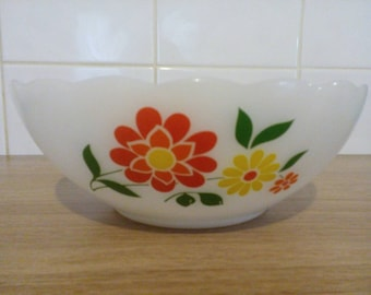 Vintage arcopal Bowl big bowl retro arcopal France