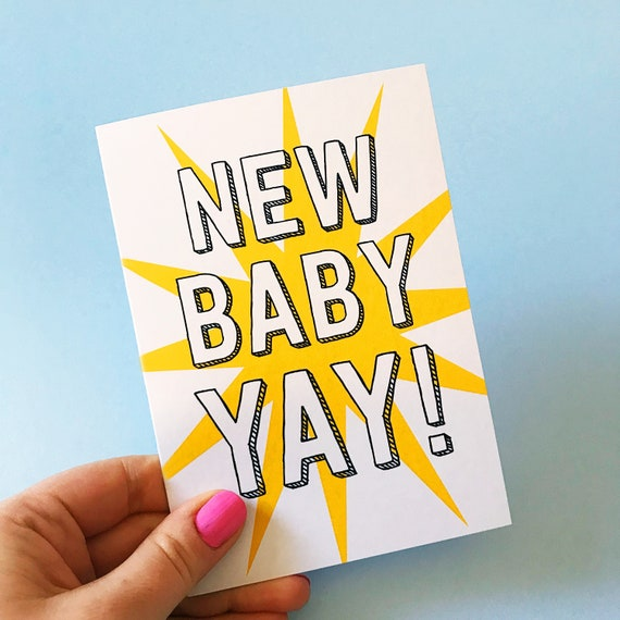 New Baby Card | Congratulations card | new baby | New baby greetings card | baby card | Baby shower