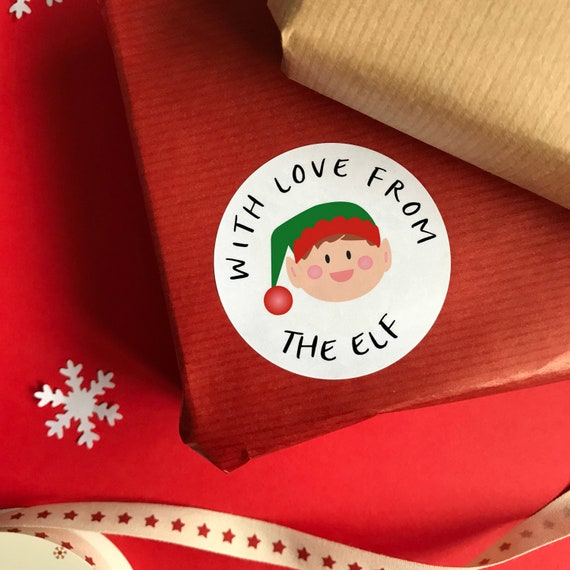Personalised Elf Stickers | Elf Christmas stickers | Gift stickers | Xmas stickers | Xmas stationery | Christmas stationery