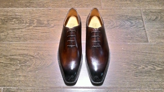 Custom made shoes wholecut oxford lace