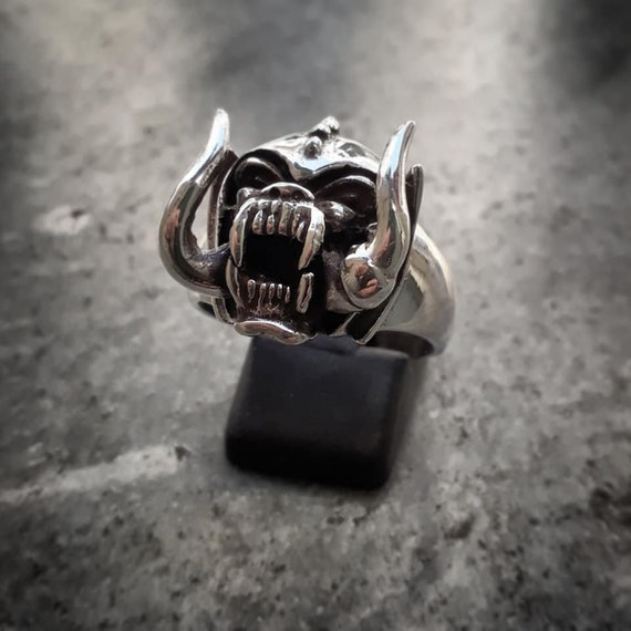 Motörhead Snaggletooth Sterling Silver 925 Ring