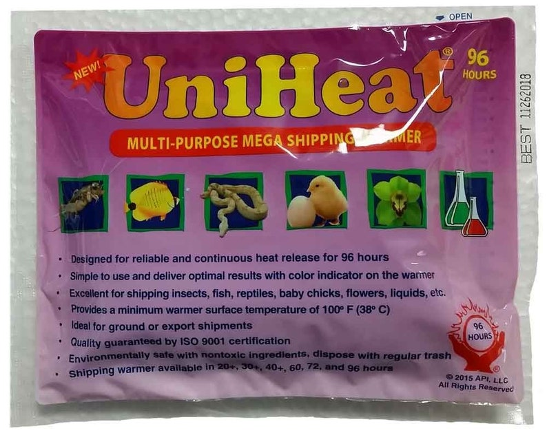Heat pack 96 hours 96 hours