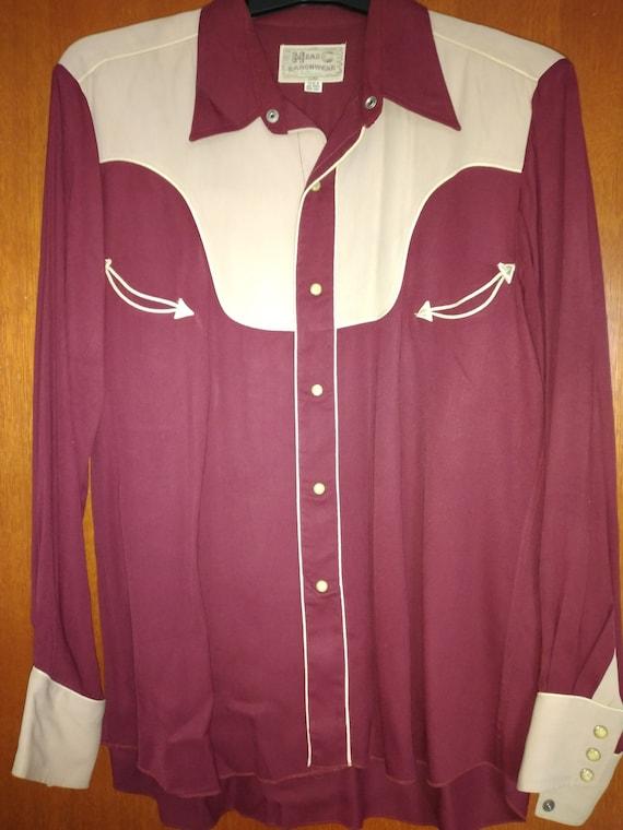 1950s vintage HbarC Ranchwear heavier GABARDINE we