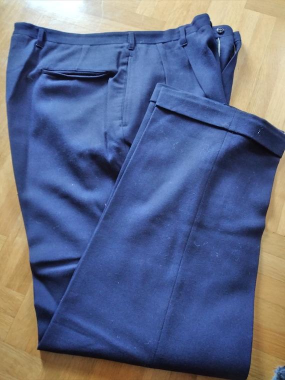 1950s gabardine hollywood pants midnight BLUE exc