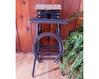 Antique Adirondack Twig Table - Bent Twig - Smoking Stand - Antique Folk Art