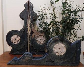 Antique Corbels - Antique Corbel Brackets - Hand-Carved Corbels - Architectural Corbels - Architectural Salvage - Set of 3