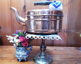 Antique Copper Kettle - Tea Kettle - Antique Kettle - Vintage Copper Kettle - Copper Kitchen Accessories