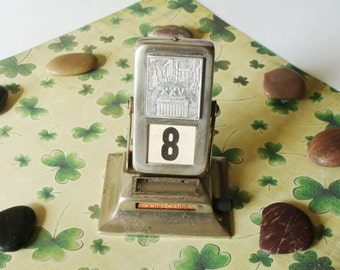 Vintage Soviet Perpetual Calendar~Reversable Desk Metal Calendar~ USSR the 1960s ~ Home Decor