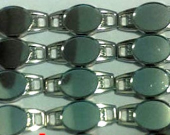 100 X Blank Black Oval Shoelace Paracord Charm 12 x 16 mm Clear Epoxy Sticker