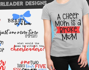 Bundle, Cheer, Cheerleader, Svg, Cheer Mom, Cricut, Silhouette, Cutting File, Cheer shirt, Set, Collection, Sale, Cheap, Clearance, Download