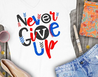 Never Give Up, Baseball Laces, Baseball, Softball, T-ball, Svg, Dxf, Ai, Eps, Png, Shirt, Design, Cricut, SIlhouette, Files, Cutting, Funny