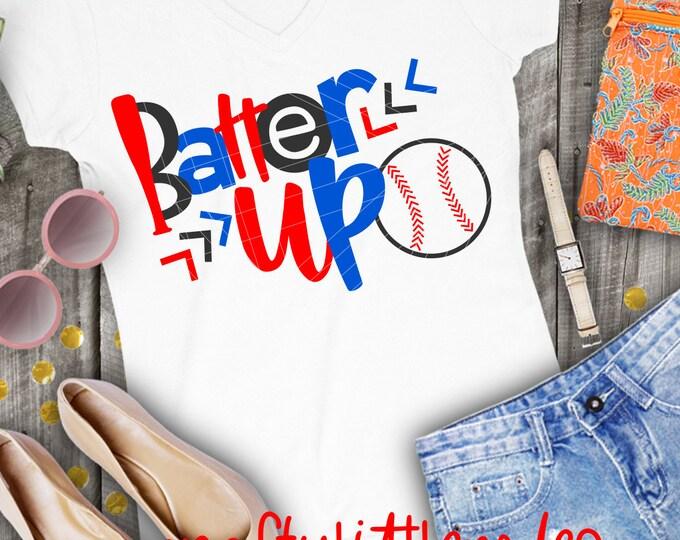 Batter up! Baseball Shirt Design, Svg, Dxf, Ai, Eps, Png, Cutting File, Silhouette File, Cricut File, T-ball Shirt, Baseball Shirt, Softball