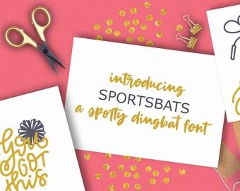 Sports, Dingbat, Font, Baseball, Symbol, Otf, Cheerleading, Ornament, Ttf, Svg, Icon, Cricut, Silhouette, Cricut Fonts, Silhouette Fonts