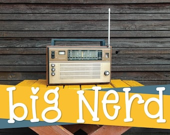 Big Nerd - A Fun Hand Written Serif Font - Smooth Craft Fonts Perfect For Cricut & Silhouette Cutting Machines - Commercial Use, Licensed