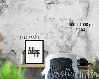 DIGITAL MOCKUP 8x10 Blank Frame Styled Stock Photo Photography Camera Art Printable Blanks Empty PNG Transparent Picture Desk Stylized