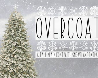 Overcoat Font, Font, Typeface, Otf, Dingbat, Snowflake Font, Commercial Font, Cricut Fonts, Silhouette Fonts, Crafter Fonts, Skinny Font,