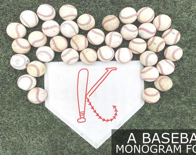 Baseball Monogram Font, Baseball Font, Baseball Letters, Baseball Monogram, Softball Font, T-ball Monogram Svg, T-ball Svg, Baseball Svg,