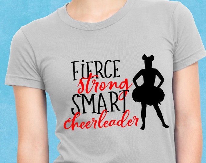 Fierce, Cheerleader, Cheerleading, Svg, Cricut, Silhouette, Cutting File, Cheer shirt, Sale, Cheap, Clearance, Download, Sublimation
