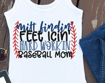 baseball mom, mom, svg, hard working, Baseball, Kid's, Shirt Design, Cricut, Silhouette, Cutting Files, Commercial Use, PNG, DXf, Shirt