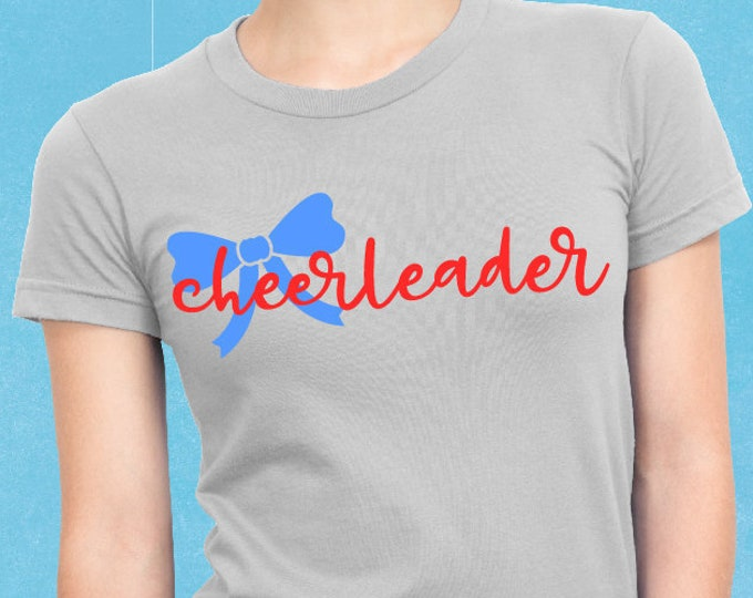 Cheerleader, Cheerleading, Svg, Cheer Bow, Cricut, Silhouette, Cutting File, Cheer shirt, Sale, Cheap, Clearance, Download, Sublimation