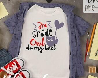 Back To School, SVG, Bundle, Owl, Boy, Girl, Preschool, Kindergarten, 1st, 2nd, 3rd, 4th, 5th, 6th, Grade, Grader, Cricut, Silhouette