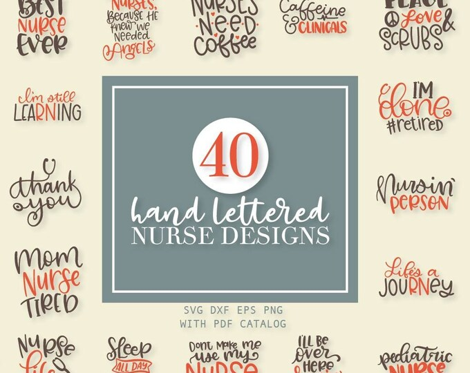 SVG, Bundle, Nurse, Nursing, Graduation, School, Huge Bundle, Cutting File, Cricut, Silhouette, Shirt Design, Download, Commercial Use
