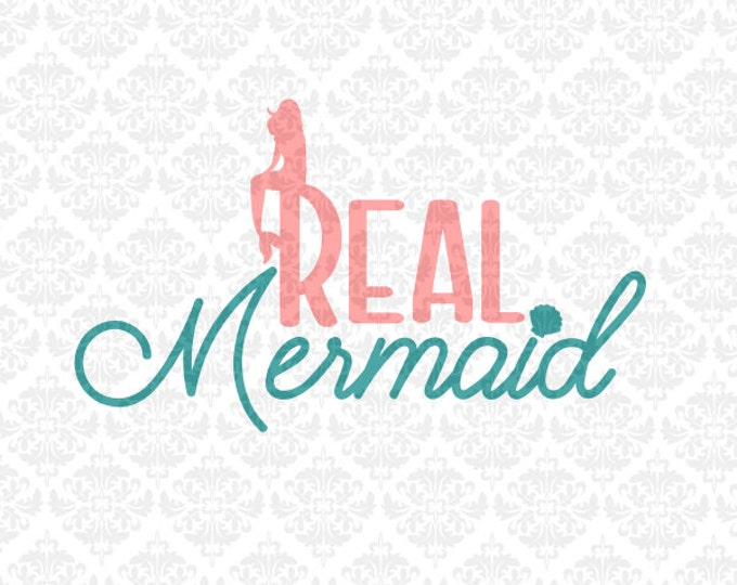 Real Mermaid Shells Mermaids Ocean Summer Shell Bra SVG DXF Ai Eps PNG Vector Instant Download Commercial Cut File Cricut Silhouette