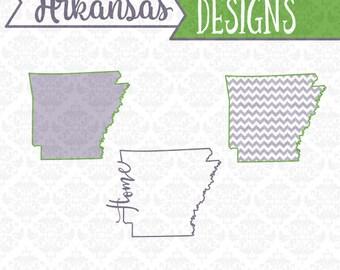 Arkansas State Svg, Arkansas Svg, Arkansas Outline Svg, Arkansas Monogram Svg, Arkansas Home Svg, Cricut, SIlhouette, Cut Files, Svg Files