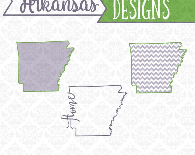 Arkansas State Svg, Arkansas Svg, Arkansas Outline Svg, Arkansas Monogram Svg, Arkansas Home Svg, Cricut, SIlhouette, Cut Files, Svg Files