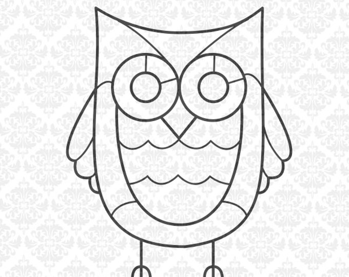 Owl Zentangle Animal Filigree Mandala Intricate SVG DXF Ai Eps PNG Scalable Vector Instant Download Commercial Cut File Cricut Silhouette