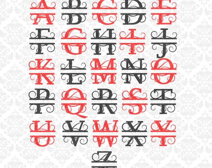 Split Letter SVG, Split Monogram Svg, Split letter Monogram svg, Monogram Svg, Split Alphabet Svg, Name Svg, Split Letters Svg, Alphabet Svg