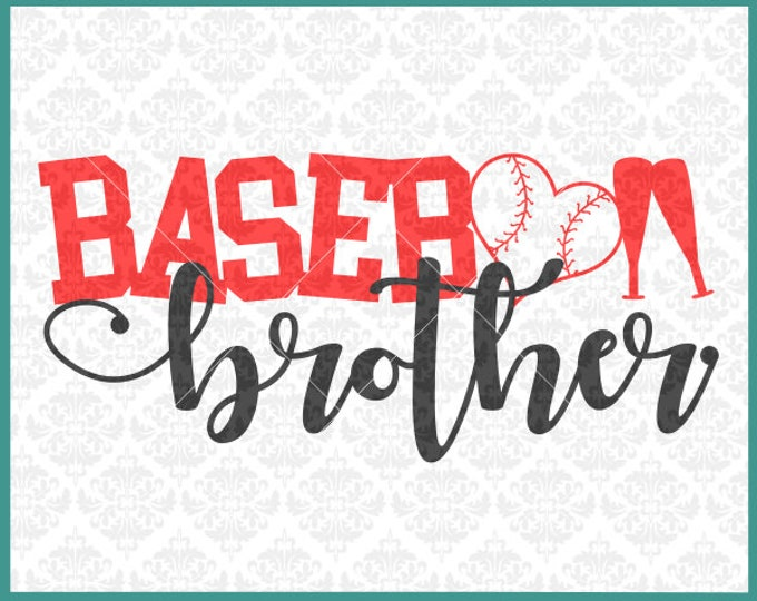 CLN0380 Baseball Brother Sister Uncle Aunt Family Shirts SVG DXF Ai Eps PNG Vector Instant Download COmmercial Cut File Cricut SIlhouette