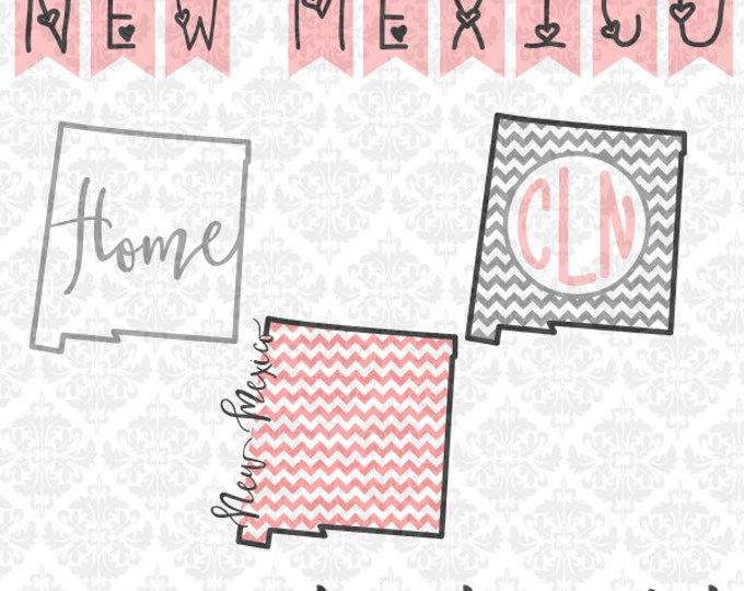 New Mexico Chevron Home Outline Love SVG DXF file Ai Eps Scalable Vector Instant Download Commercial Use Cutting File Cricut Silhouette