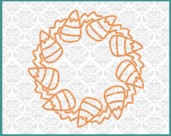 CLN0627 Candy Corn Halloween Mandala Monogram Bucket SVG DXF Ai EPs PNG Vector Instant Download Commercial Cut File Cricut Silhouette