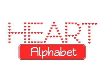 Heart Alphabet in SVG file Ai EPS  Instant Download for cutting files cricut explore silhouette cameo projects commercial use