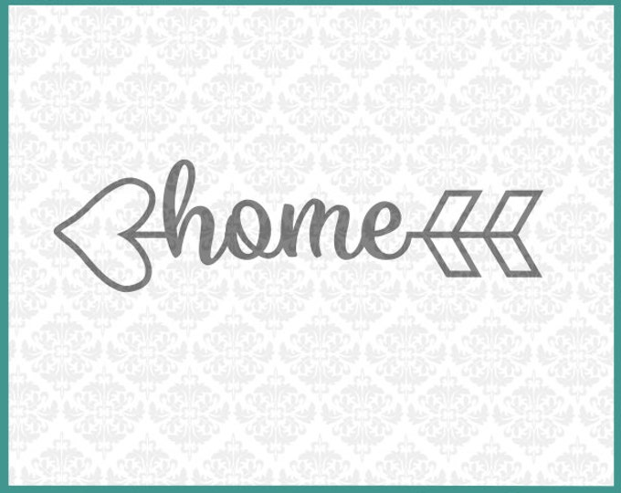 CLN054 Heart Arrow Monogram Words Family Home Love Circle SVG Ai EPS vector instant download commercial use cutting file cricut silhouette