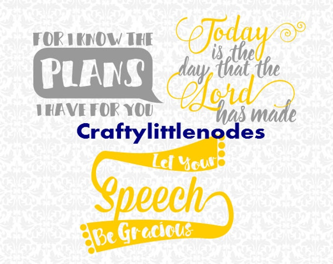 Inspiring Bible Quotes SVG file Ai EPS Scalable Vector Instant Download Commercial Use Cutting File Cricut Explore Silhouette Cameo
