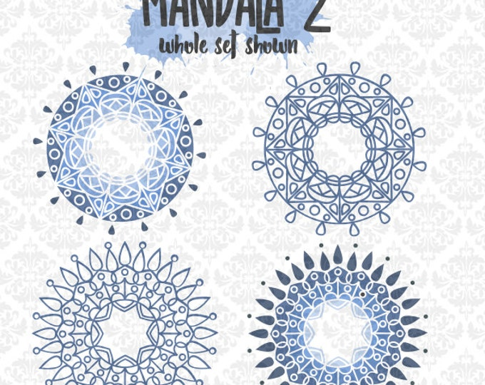Mandala Intricate Henna Tattoo round Monogram SVG DXF Ai EPS Scalable Vector Instant Download Commercial Use Cutting File Cricut Silhouette