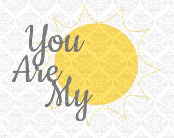 Nursery Set Twinkle Twinkle I see the Moon You are my sunshine SVG file Ai EPS Scalable Vector Instant Download Commercial Cutting file