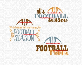 Football Season We interrupt this marriage Football Momma SVG STUDIO Ai EPS Vector Instant Download Commercial Use Cricut Silhouette